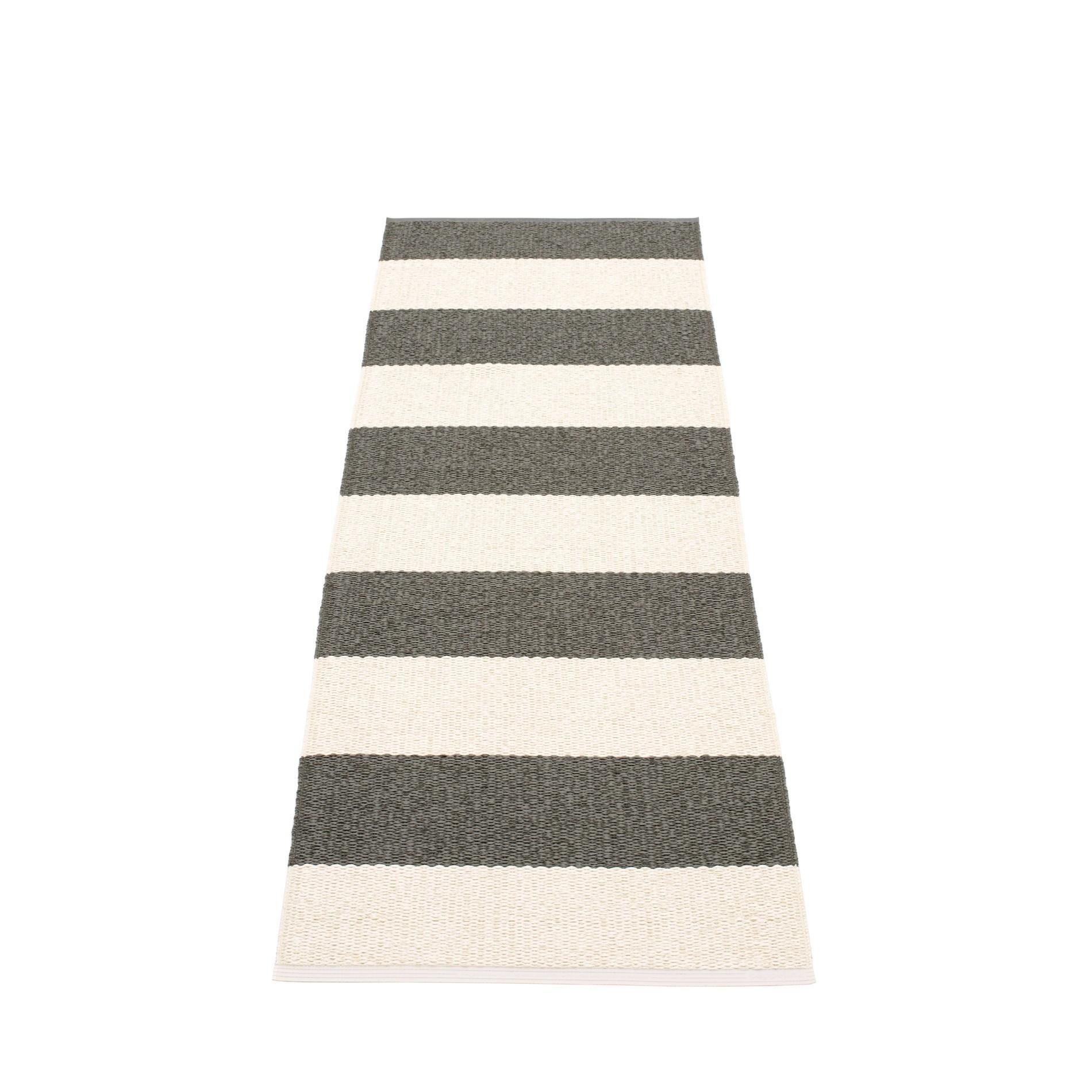 Bob Kunststoffteppich 70x200 cm Pappelina Charcoal-Vanille
