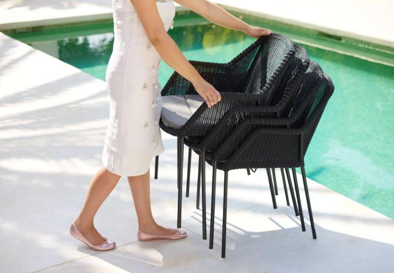 Breeze Outdoor Stuhl Vierfußgestell Schwarz Cane-Line EINZELSTÜCK