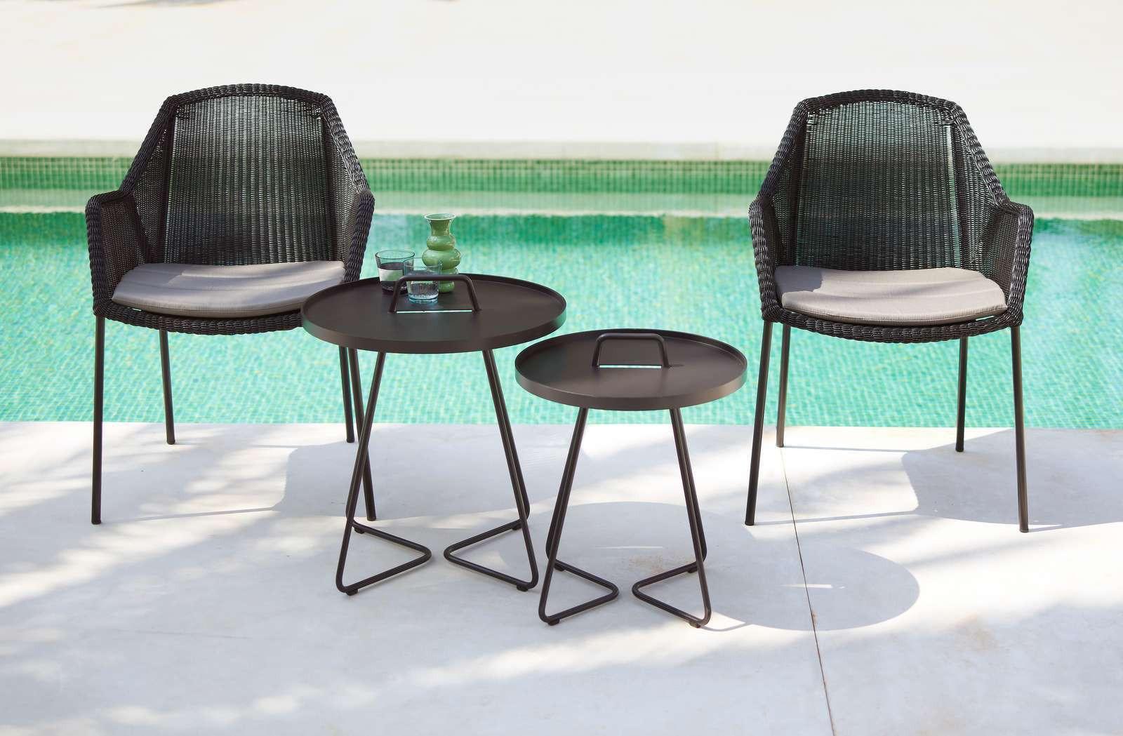 Breeze Kissen für Outdoor Stuhl Vierfußgestell Cane-Line hellgrau
