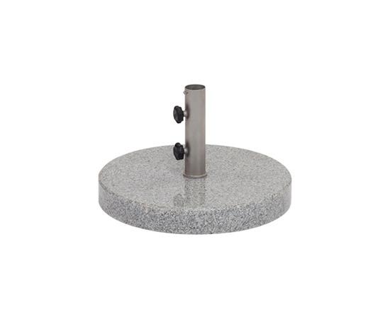 Bodenplatte Granit poliert für Sonnenschirm Weishäupl