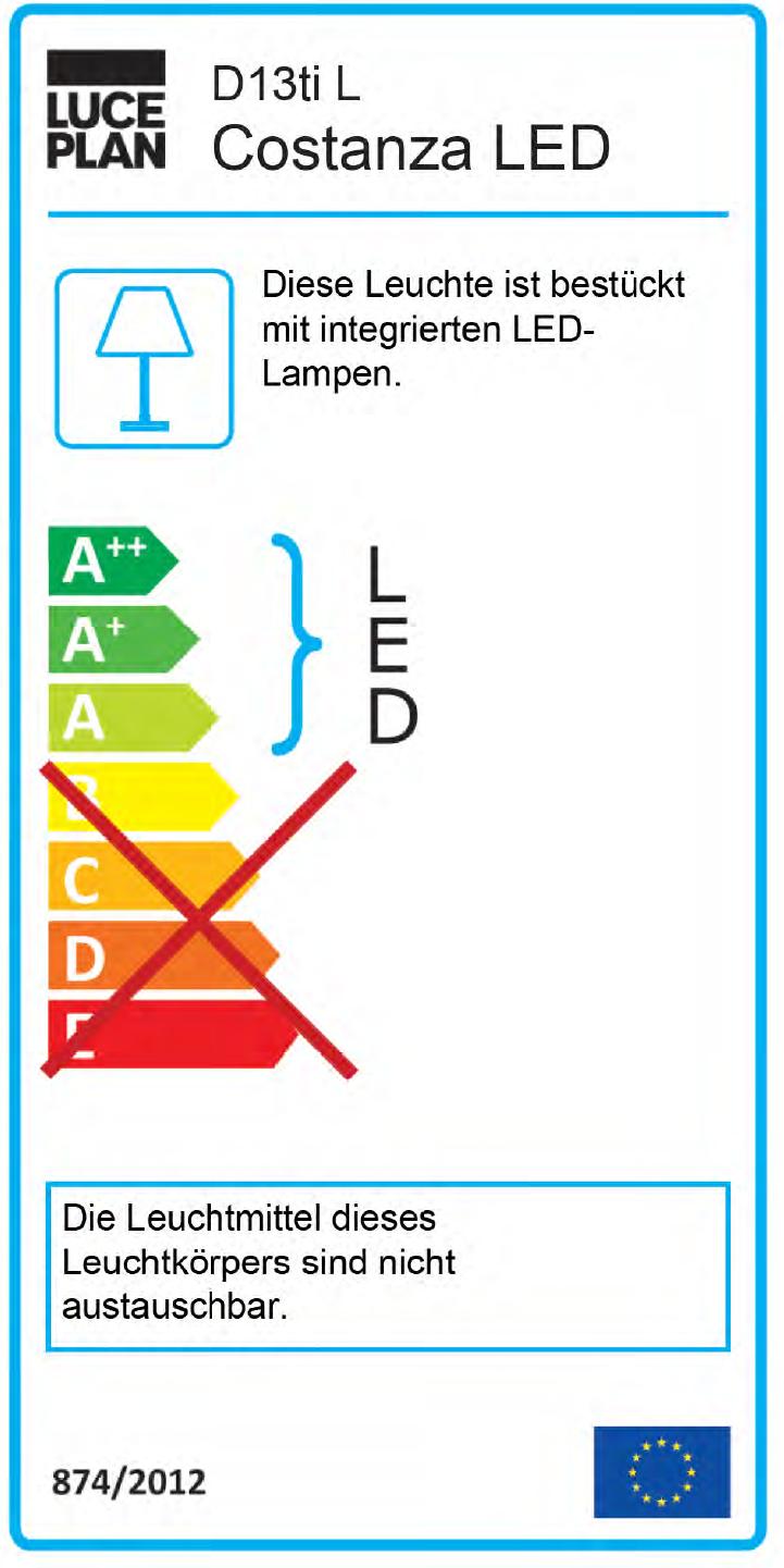 Costanza D13 t.i. Stehleuchte höhenverstellbar mit Ein/Aus-Schalter Luceplan