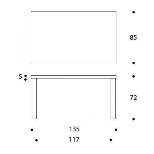 82B Tisch Artek