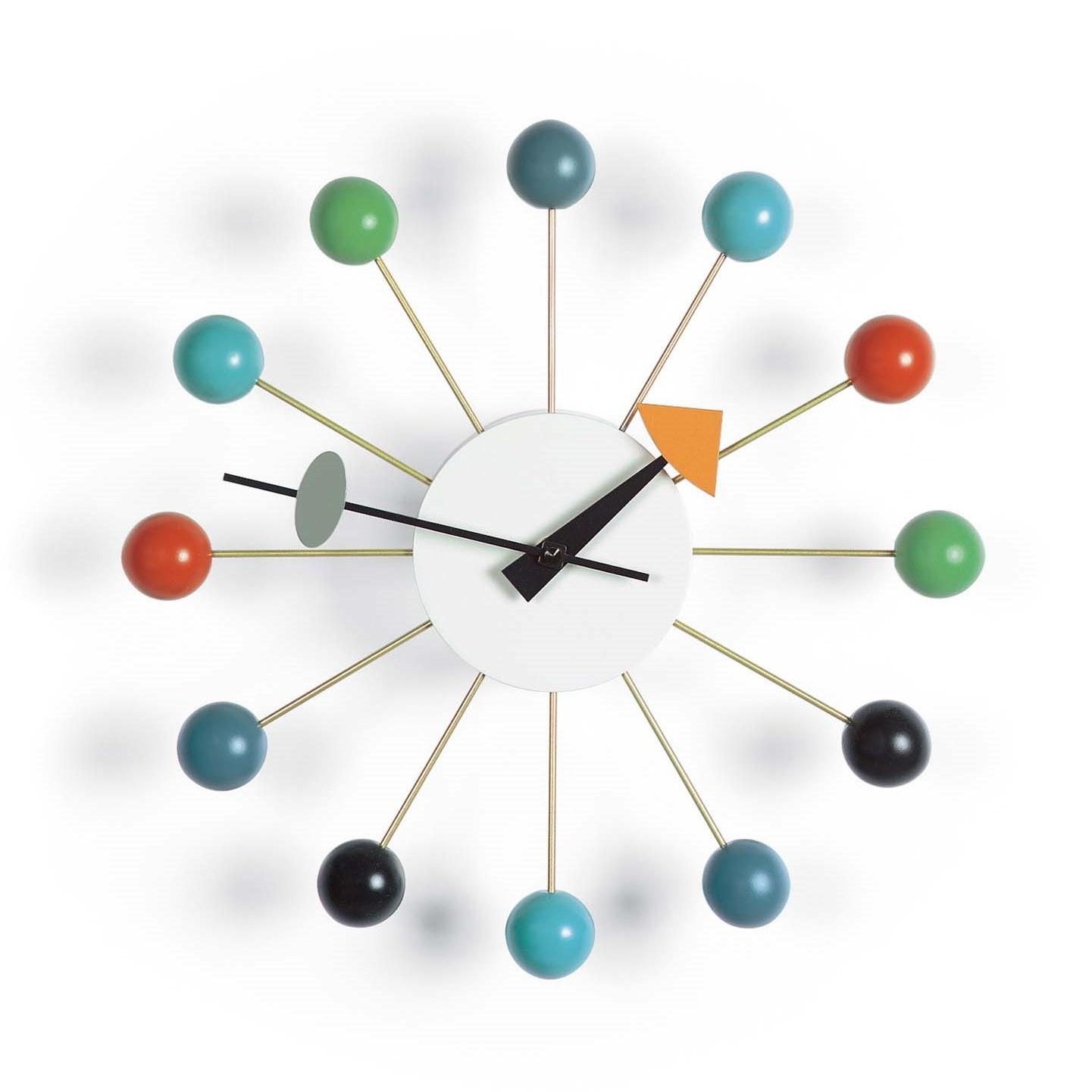 Ball Clock Wanduhr - mehrfarbig Vitra