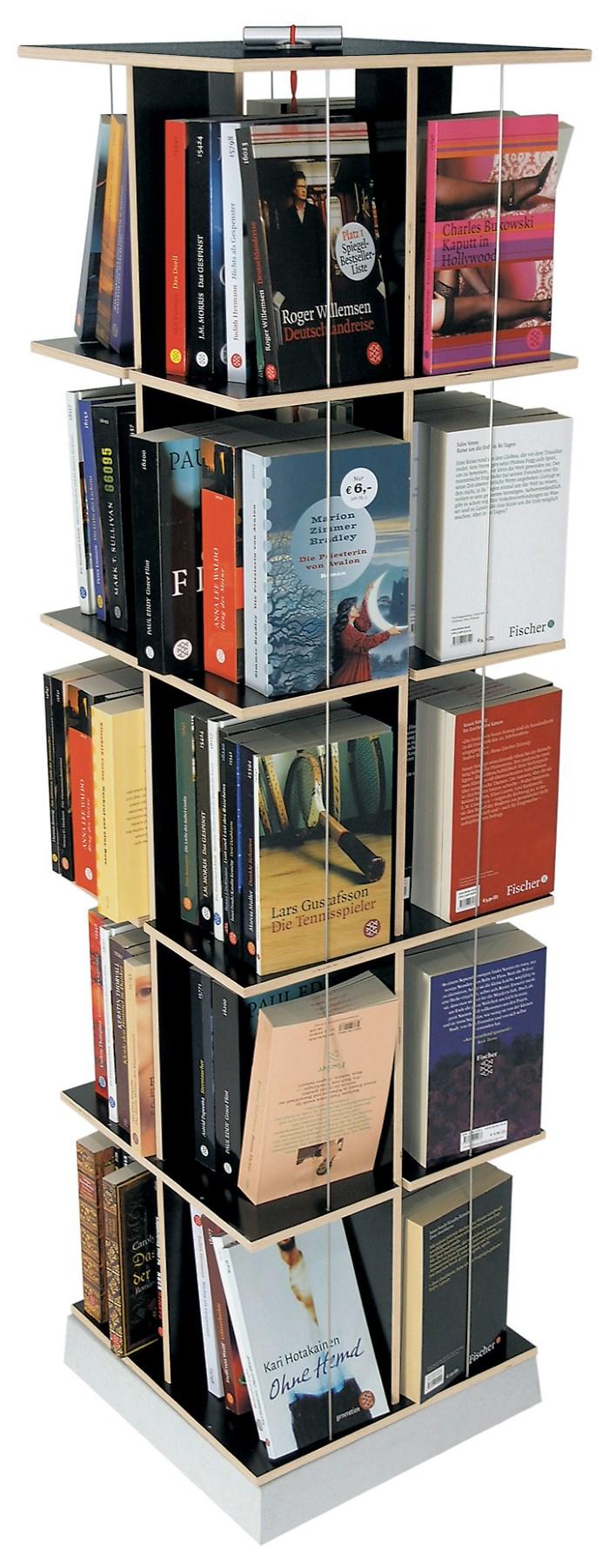Buchstabler Bücherturm, DVD-Regal Nils Holger Moormann