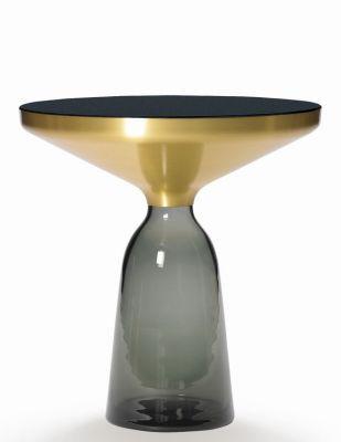 Bell Side Table Beistelltisch Messing Quarzgrau EINZELSTÜCK ClassiCon