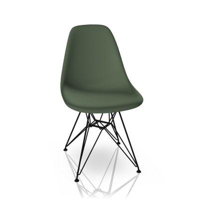Eames Plastic Side Chair DSR Stuhl Vitra Schwarz-Forest