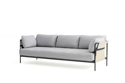 Can 3-Sitzer Sofa Hay Canvas Natur