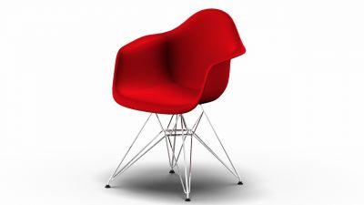 Eames Plastic Arm Chair DAR Stuhl Vitra AUSLAUFFARBEN