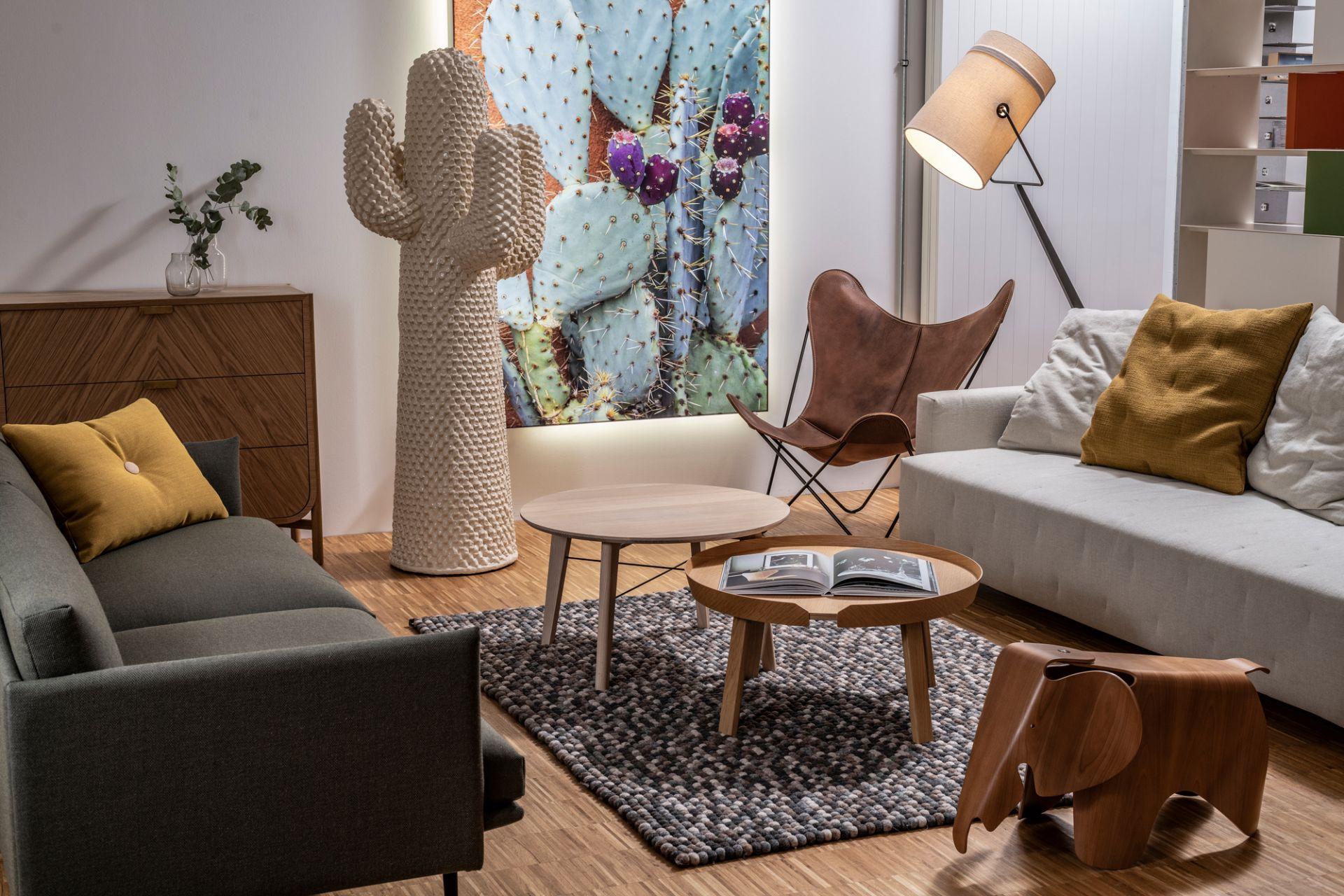 Eames Elephant Plywood Kirschbaum Hocker Vitra