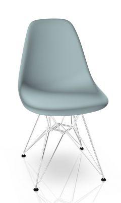 Eames Plastic Side Chair DSR Stuhl Vitra Chrom-Eisgrau