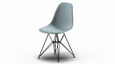 Eames Plastic Side Chair DSR Stuhl Vitra Schwarz-Eisgrau