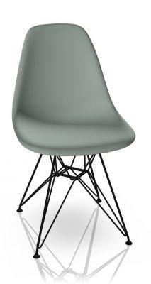 Eames Plastic Side Chair DSR Stuhl Vitra Schwarz-Hellgrau