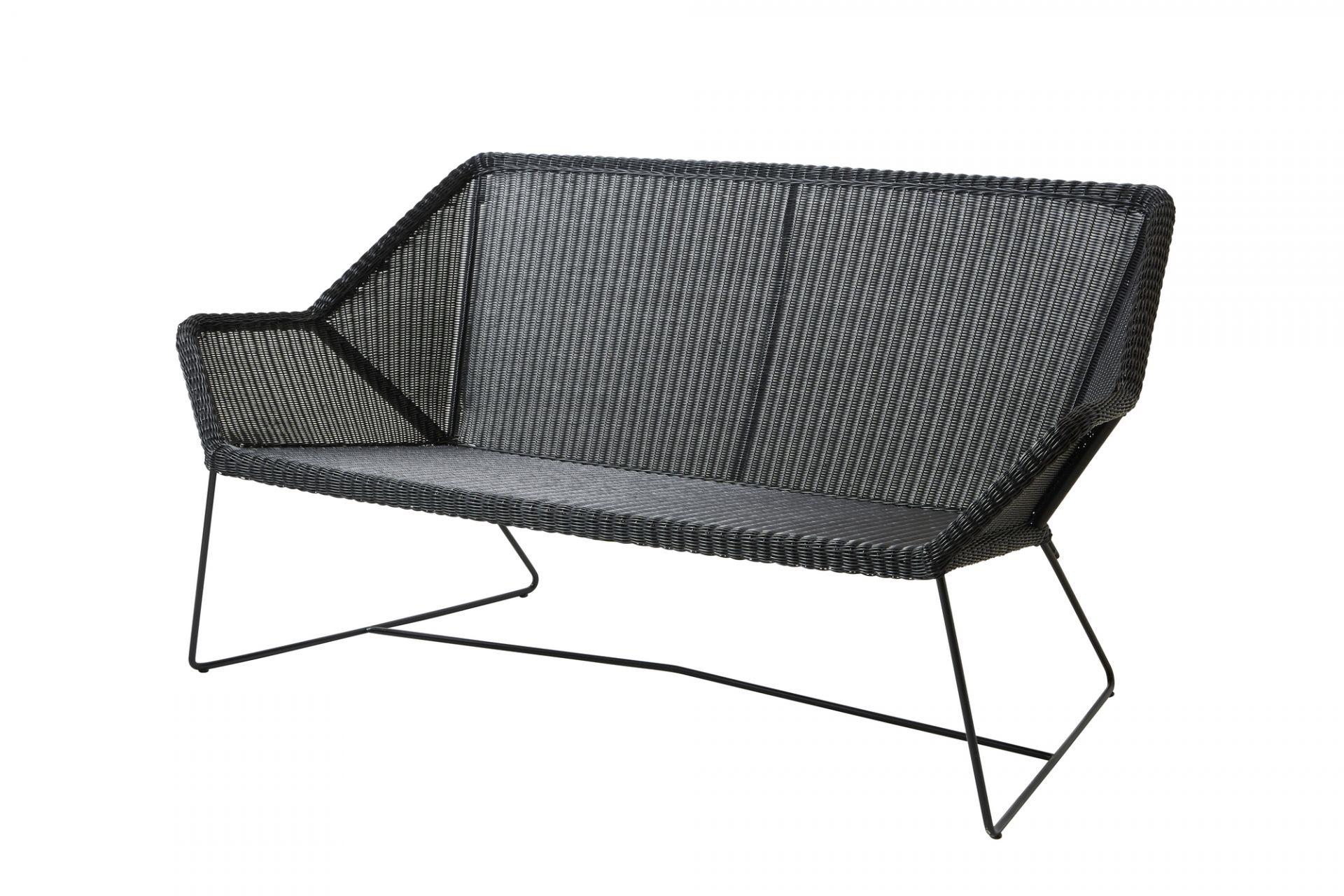 Breeze Outdoor Loungesofa schwarz Cane-Line