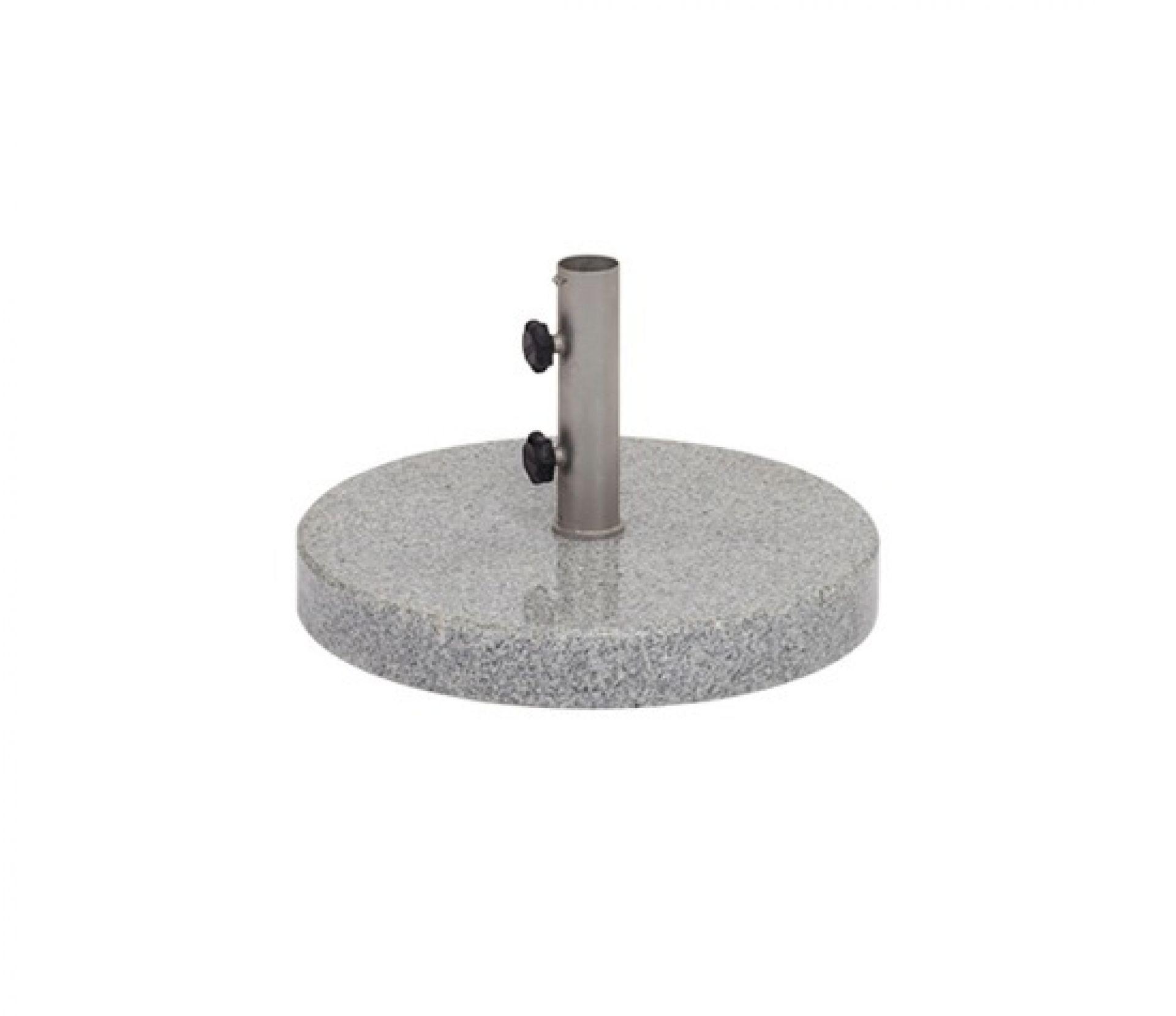 Bodenplatte Granit poliert für Sonnenschirm Weishäupl rund