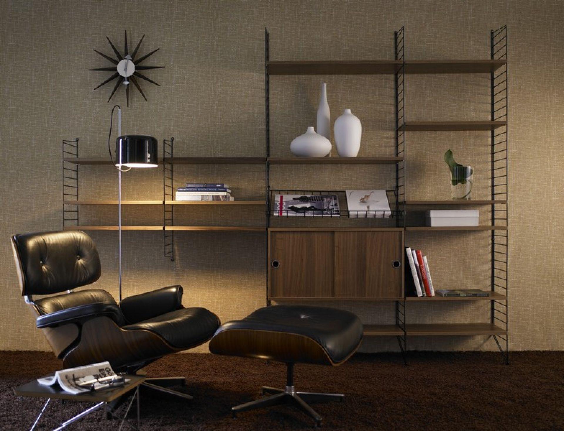 Zusatz-Seitenwand 2-er Set für String Wand Tiefe 20 cm String Furniture