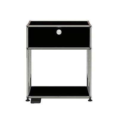 USM Haller E Nachttisch mit dimmbarem Licht graphitschwarz - QUICK SHIP