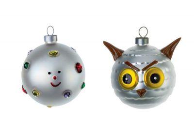 Palle Presepe - Fioccodineve e Uffoguffo 2er Set kleine Weihnachtsbaumkugeln AMJ14SET6 Alessi