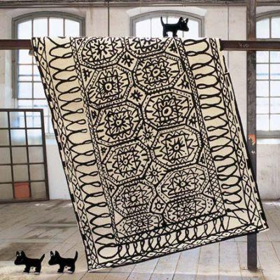 Black on White Estambul Teppich Nanimarquina