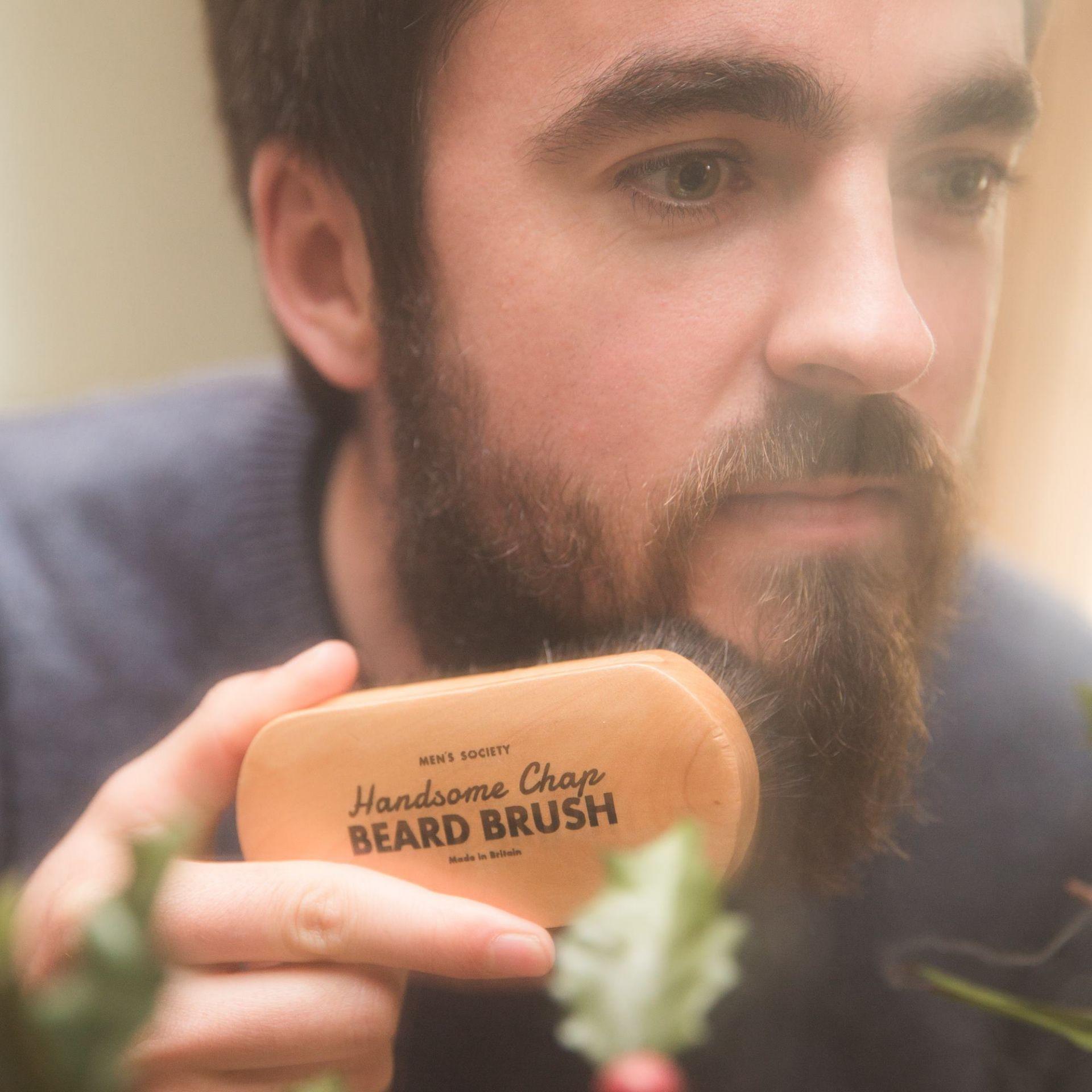 Beard Brush Bartbürste Men's Society  EINZELSTÜCKE