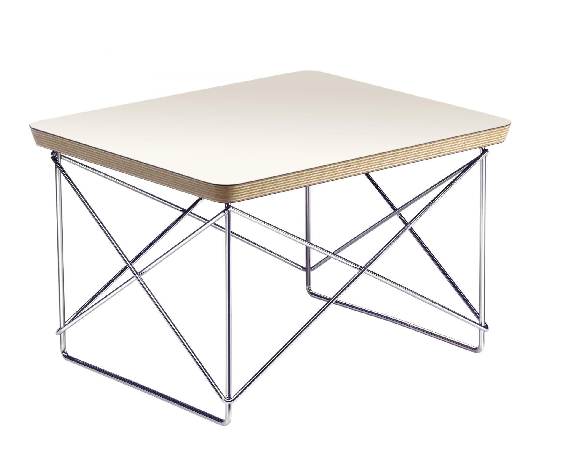 Occasional Table LTR Beistelltisch HPL Schwarz - Verchromt Vitra