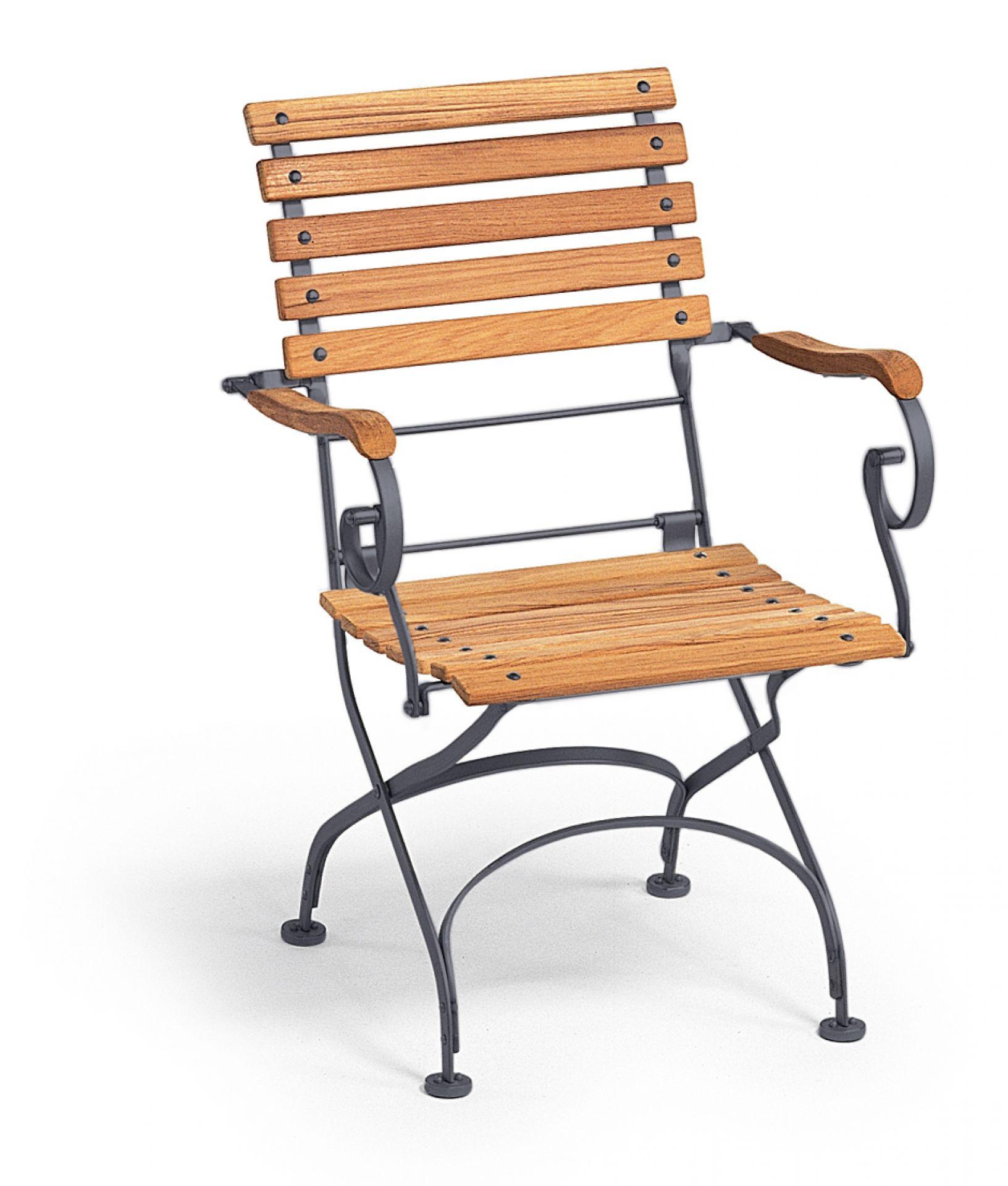 Classic Armchair Sessel klappbar mit Armlehnen Weishäupl graphitgrau