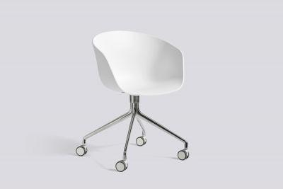 About A Chair AAC24 / AAC 24 Stuhl Weiss - Aluminium poliert Hay