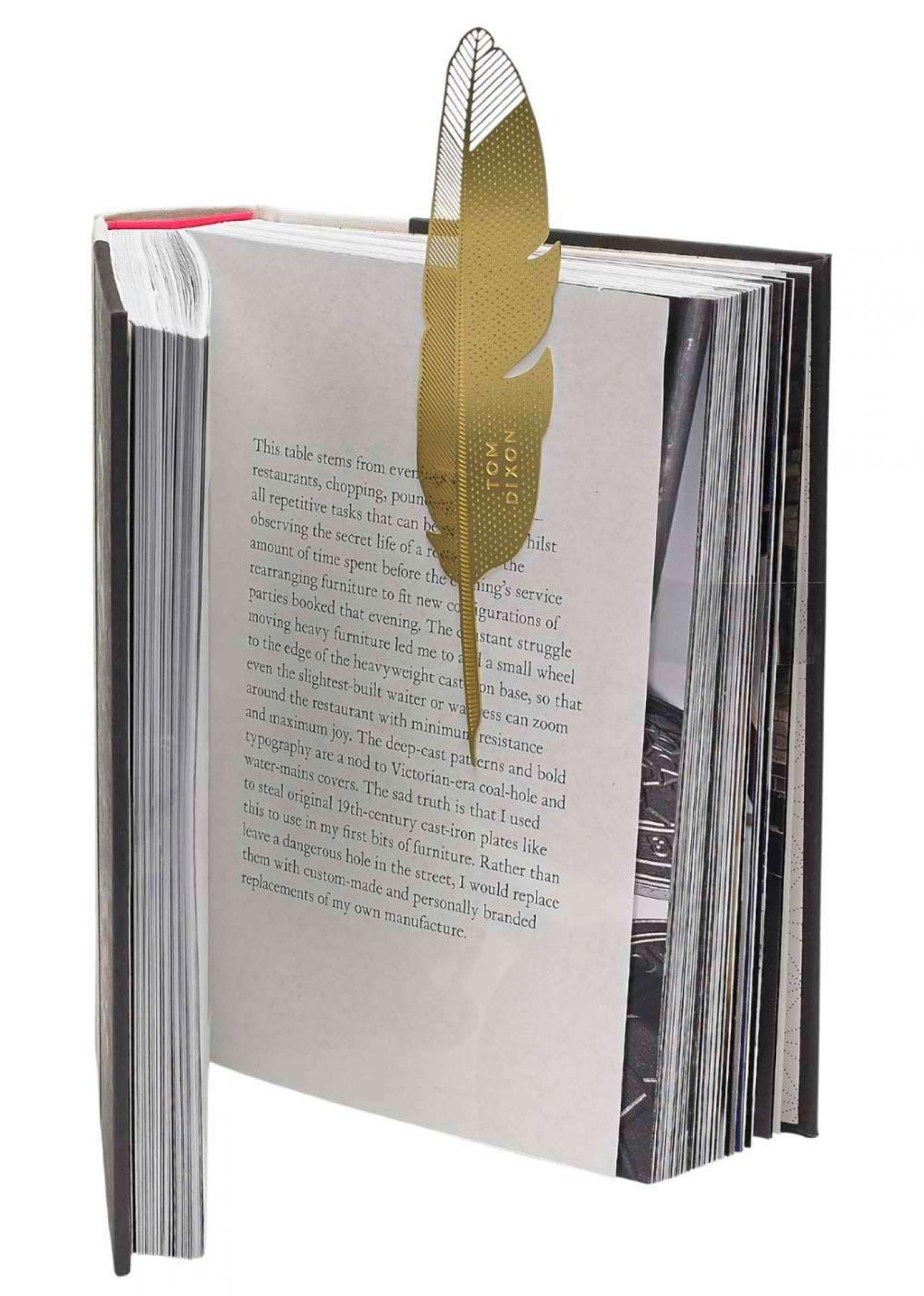 Tool the Bookworm Quill Lesezeichen Feder Tom Dixon