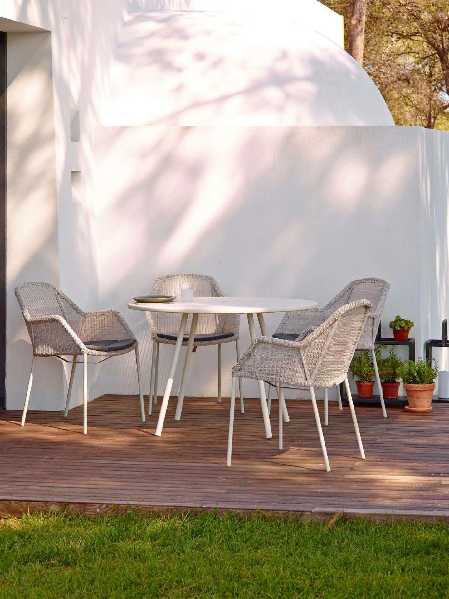 Breeze Outdoor Stuhl Vierfußgestell weiß Cane-Line