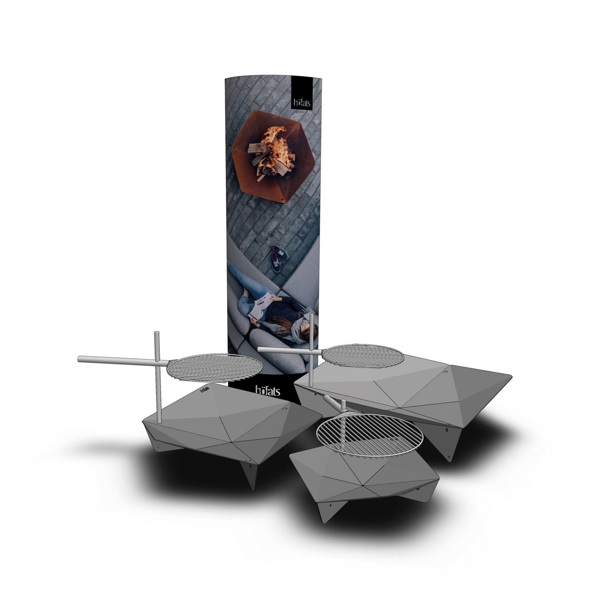 Triple Feuerschale Ø 65 cm höfats