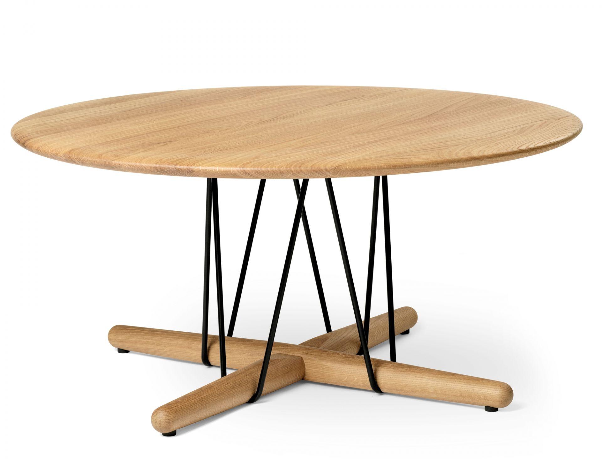Embrace Lounge Table Tisch Carl Hansen & Søn Edelstahl - Eiche schwarz